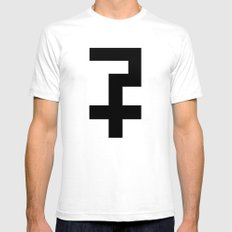 Kathedral Cross Black White Mens Fitted Tee SMALL