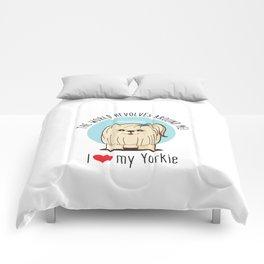 I love my Yorkie Comforters