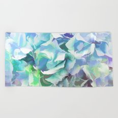 Hydrangea in a Pastel Light Beach Towel