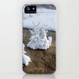 Winter in Yellowstone iPhone Case