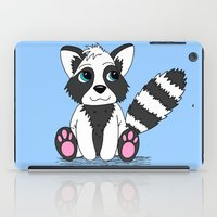 racoon iPad Cases featuring Racoon by BlackBlizzard