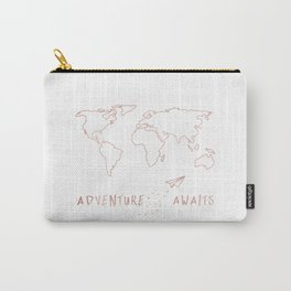 Adventure Map in Rose Gold Carry-All Pouch