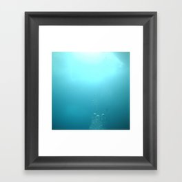 Swimming up to the surface Framed Art Print