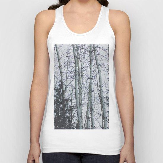 Birch trees Unisex Tank Top