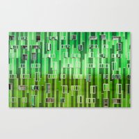 green pattern Canvas Prints featuring Green Pattern by Maria Eugenia Espino