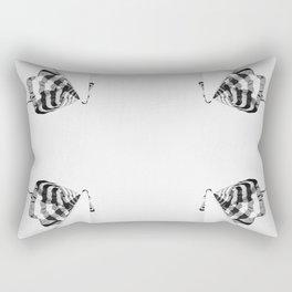 4 flag poles, black and white Rectangular Pillow