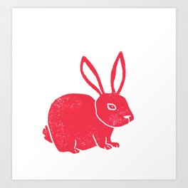 One Red Bunny Art Print
