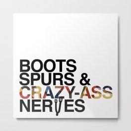 Boots 'n' Spurs [Black] Metal Print
