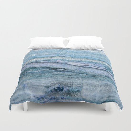 Mystic Stone Aqua Blue Duvet Cover