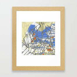 Accumulated Propagation - Periwinkle Framed Art Print