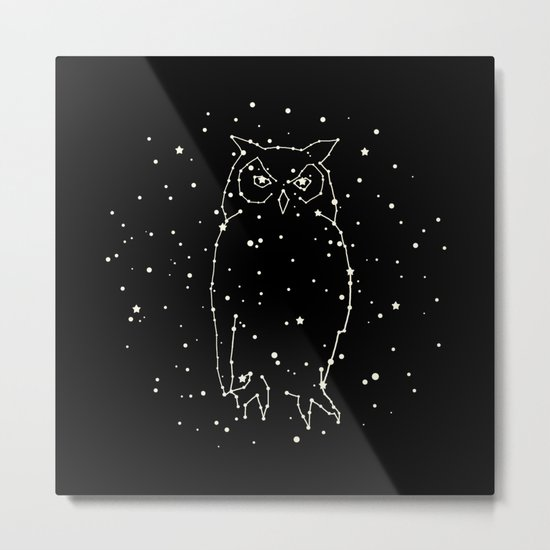 Owl Constellation Metal Print
