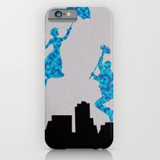 Mary Poppins glittsy Blue iPhone 6s Slim Case