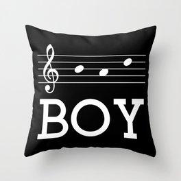 Bad boy (treble clef, dark colors) Throw Pillow