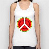 watermelon Tank Tops featuring Watermelon by mailboxdisco