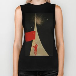 all the way up to the stars - soviet union propaganda Biker Tank