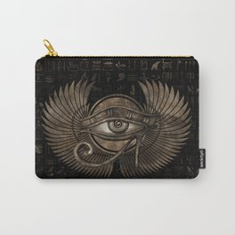 Egyptian Eye of Horus - Wadjet Vintage Gold Carry-All Pouch