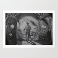 hobbit Art Prints featuring The Hobbit by Matthew Felton