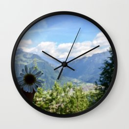 Beauty in the Alps Wall Clock