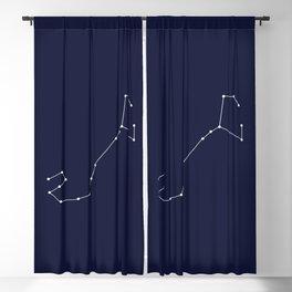 Scorpio Star Sign Deep Blue Blackout Curtain