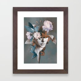 Floral Portrait 11 Framed Art Print