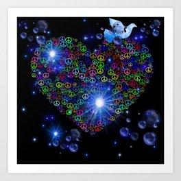 Peace N Love Blitz Art Print