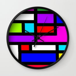 Dutch modern abstract Wall Clock