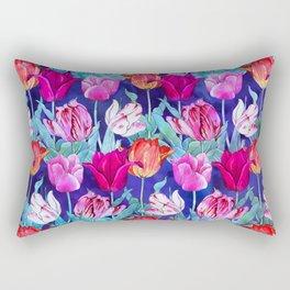 Tulips field Rectangular Pillow