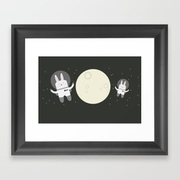 Astro Bunnies Framed Art Print