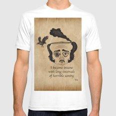 Poe insane Mens Fitted Tee White MEDIUM
