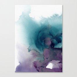 Teal Ultra Violet Vortex Canvas Print