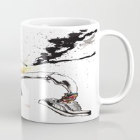 hunter s thompson Mugs featuring Hunter S Thompson by BINDU by BINDU