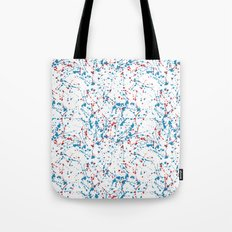 Splat Red White and Blue Tote Bag
