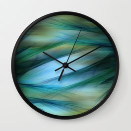 Soft Feathered Lights Abstract Wall Clock