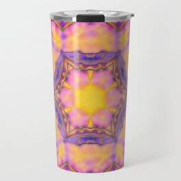 Delicate kaleidoscope in the colors of summer Travel Mug