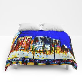 Chicago Nights Downtown Comforters
