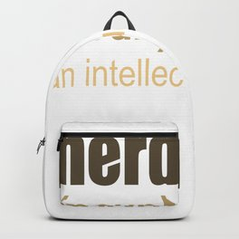 Nerd Definition An Intellectual Badass Backpack