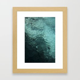 50 shades of WATER Framed Art Print