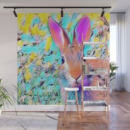 Easter Bunny Pastel Art Wall Mural