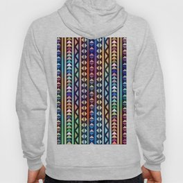 Colorful Tribal Stripes and triangles Pattern Hoody