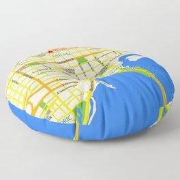 Map of Pensacola, FL - East Hill Christian School Floor Pillow