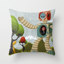 Woody Mecha Throw Pillow