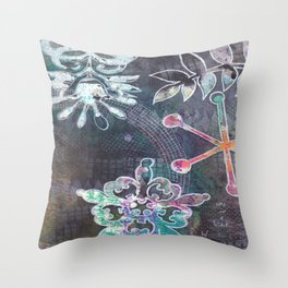 time is a b!tch Throw Pillow