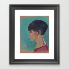 Short Hair I Framed Art Print