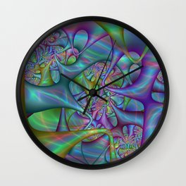 Colorful labyrinth (square version) Wall Clock
