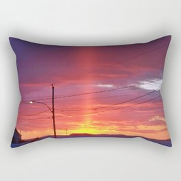 Winter Light Pillar Rectangular Pillow