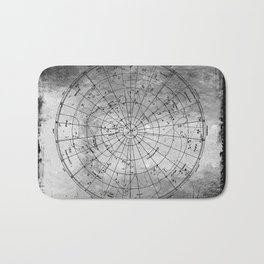 Old Metal Northern Constellation Map Bath Mat