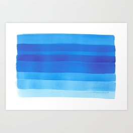 Blue layers abstract Art Print