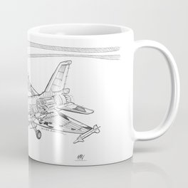 F16 Cutaway Freehand Sketch Coffee Mug
