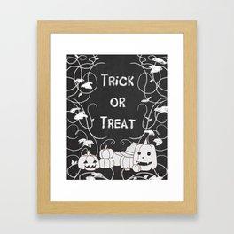 Trick or Treat Pumpkin Patch Framed Art Print