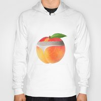 booty Hoodies featuring Peach booty by Jecca All